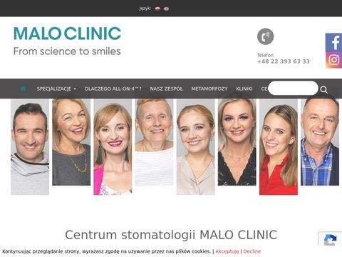Klinika dentystyczna Warszawa - maloclinics.pl
