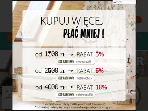 Producent 艂贸偶ek drewnianych - meble dla dzieci