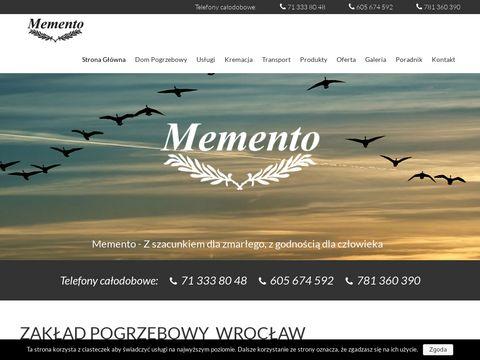 Memento-wroc.pl - usługi pogrzebowe Wrocław