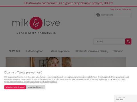 Milk & love - polska marka bluzek ciążowych i bluz do karmienia piersią