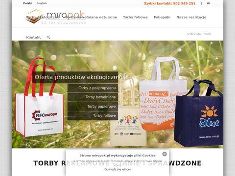 Torby reklamowe od producenta | ekologiczne, Foliowe - Miropak