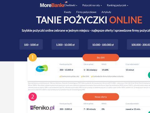 Minipożyczka - morebanker.pl