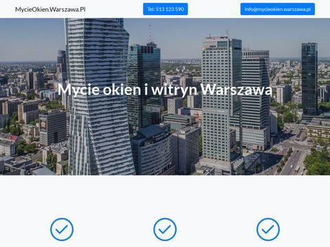 MycieOkien.Warszawa.pl mycie witryn i okien w biurach i mieszkaniu