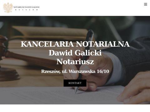 Kancelaria notarialna Rzeszów - Notariusz Dawid Galicki