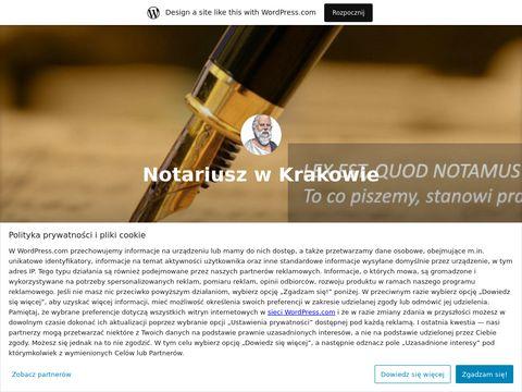 Blog: Notariusz w Warszawie i Krakowie: testament, akty notarialne