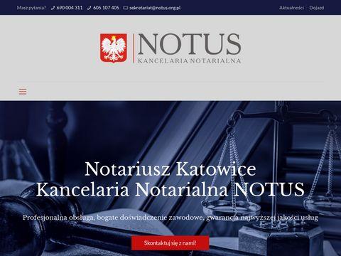 Notus.org.pl - notariusz katowice
