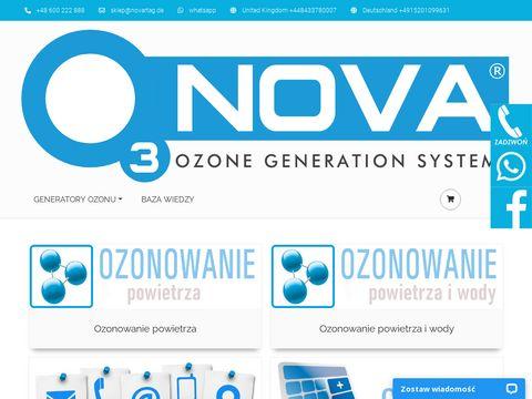 O3NOVA ozonowanie powietrza i wody, generatory ozonu