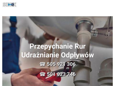 Sidex - Udrażnianie Rur, Przepychanie - Warszawa