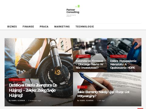 Partnerconsulting.pl - portal o biznesie i marketingu firmy