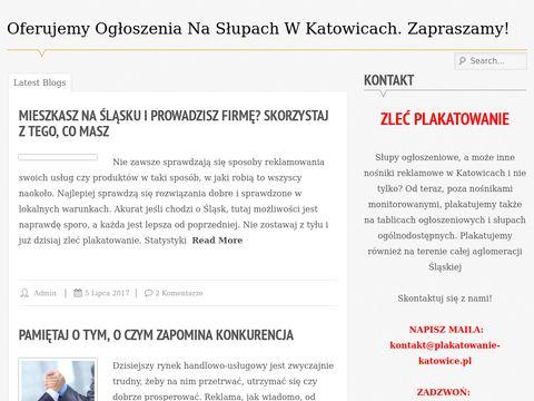 Plakatowanie Katowice - rozklejanie plakat贸w w Katowicach i okolicy