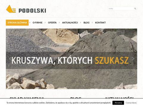 Podolski - Sk艂ad kruszywa