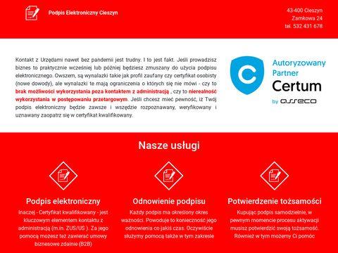 Podpis kwalifikowany cieszyn - podpis.komputery.cieszyn.pl
