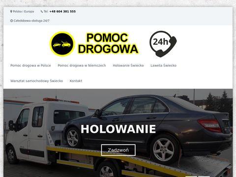 Pomoc drogowa Åšwiecko, laweta Åšwiecko