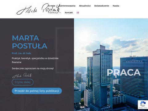 Marta Postuła specjalista finanse publiczne
