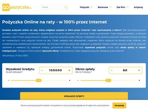 Pożyczki przez internet PPozabankowe.pl