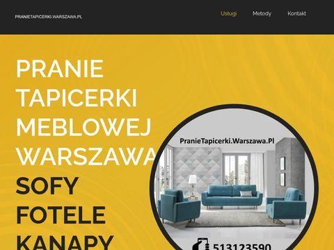 PranieTapicerki.Warszawa.pl pranie tapicerki meblowej w Warszawie