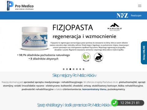 Sklep medyczny PROMEDICO Kraków - wózki inwalidzkie, ortezy