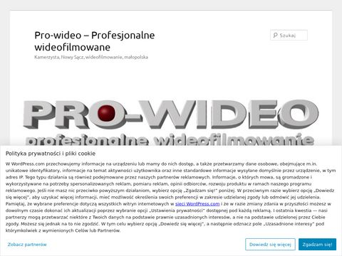 PRO-WIDEO, Kamerzysta i Fotograf, Videofilmowanie, Nowy S膮cz