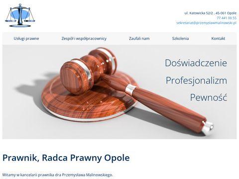 Prawnik Przemysław Malinowski
