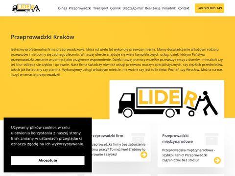 Przeprowadzki, firma Lider