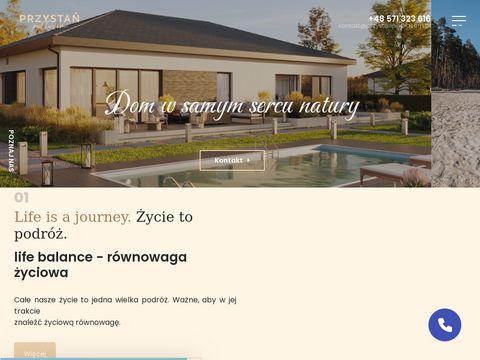 Domy pod Wrocławiem - Prywatna plaża - Przystań pod Lasem