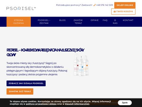 Kosmetyki lecz膮ce 艂uszczyc臋 sk贸ry g艂owy - psorisel.pl
