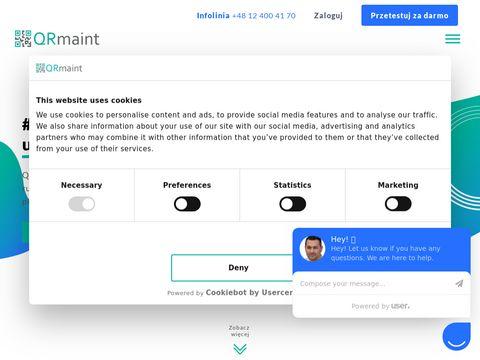 Prosty i intuicyjny system CMMS, zarzÄ…dzanie utrzymaniem - QRmaint