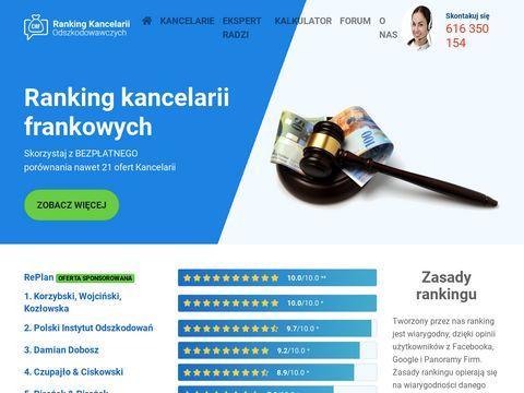 Ranking kancelarii odszkodowawczych frankowicze