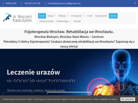 Fizjoterapeuta Wroc艂aw