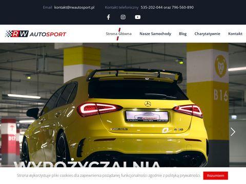 RW AutoSport - Wypo偶yczalnia samochod贸w sportowych w Poznaniu