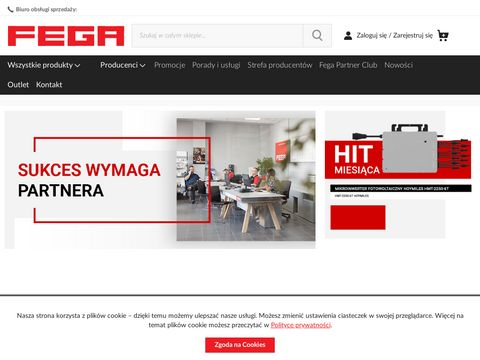 Hurtownia elektryczna FEGA - sklep elektryczny