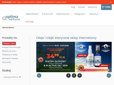 Sklep.optimanatura.eu – Naturalne olejki Eteryczne