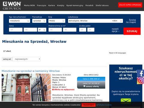 Mieszkania na Sprzedaż Wrocław - WGN