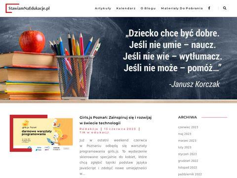 Portal dla nauczycieli 鈥� Stawiamnaedukacje.pl
