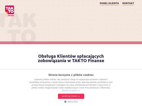 Takto Finanse - szybkie pożyczki online