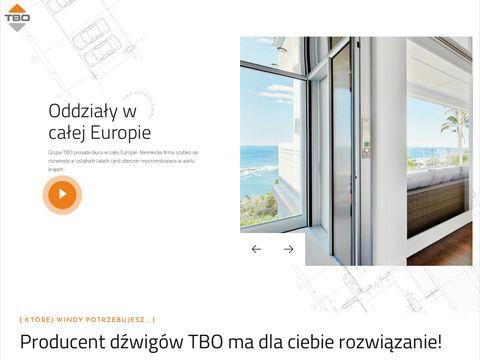 Producent wind TBO Group | windy osobowe do domu | dźwigi towarowe