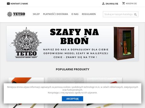 Sejfy na broń - Teteo.pl - Tanio i solidnie