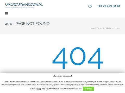 Niekorzystna umowa frankowa? UmowaFrankowa.pl