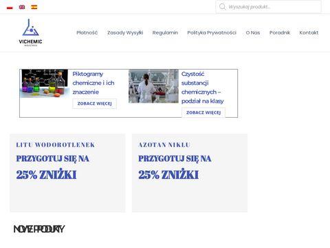 Odczynniki i surowce chemiczne - hurtownia   Vichemic