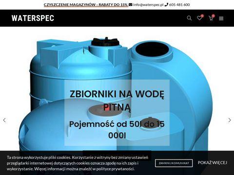 Zbiorniki na wod臋 deszczow膮 Filtry do Wody   Waterspec
