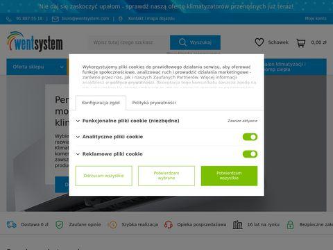 ❆ Klimatyzacja w Szczecinie   Montaż, serwis i sklep   WENTSYSTEM