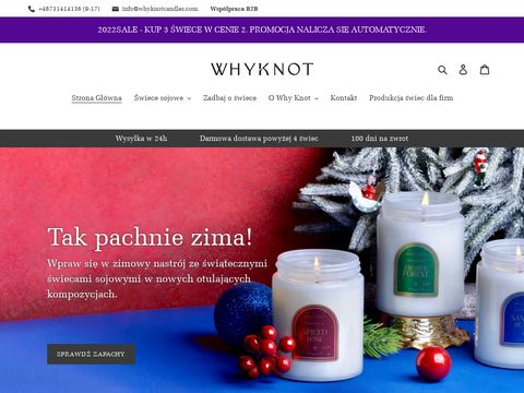 Naturalne Å›wiece sojowe - Why Knot Candles