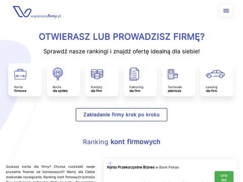 Konto firmowe ranking - wspieramyfirmy.pl