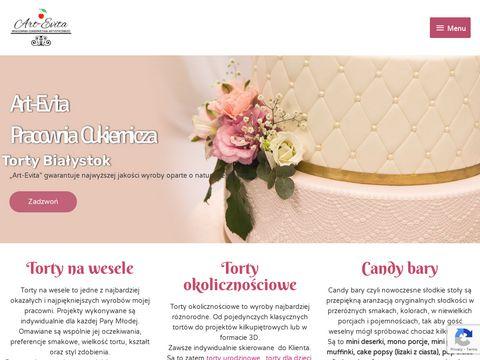Torty Białystok - Art-Evita Pracownia Cukiernictwa Artystycznego