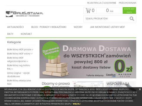 Listwy wyko艅czeniowe bia艂e z MDF sklep - bialelistwy.pl
