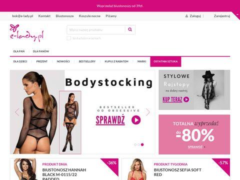 E-lady.pl - sklep z wyjÄ…tkowÄ… bieliznÄ…