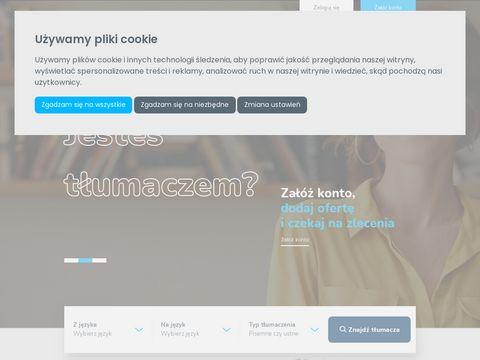 E-tlumacze.net - serwis po艣rednictwa t艂umacze艅