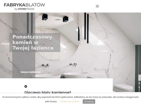 Fabryka blatów Wroclaw. Blaty kamienne