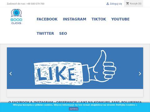 Lajki FB, polubienia Facebook z Polski i opinie na fanpage GoodClicks