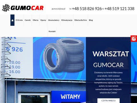 Gumocar.pl opony nowe warszawa